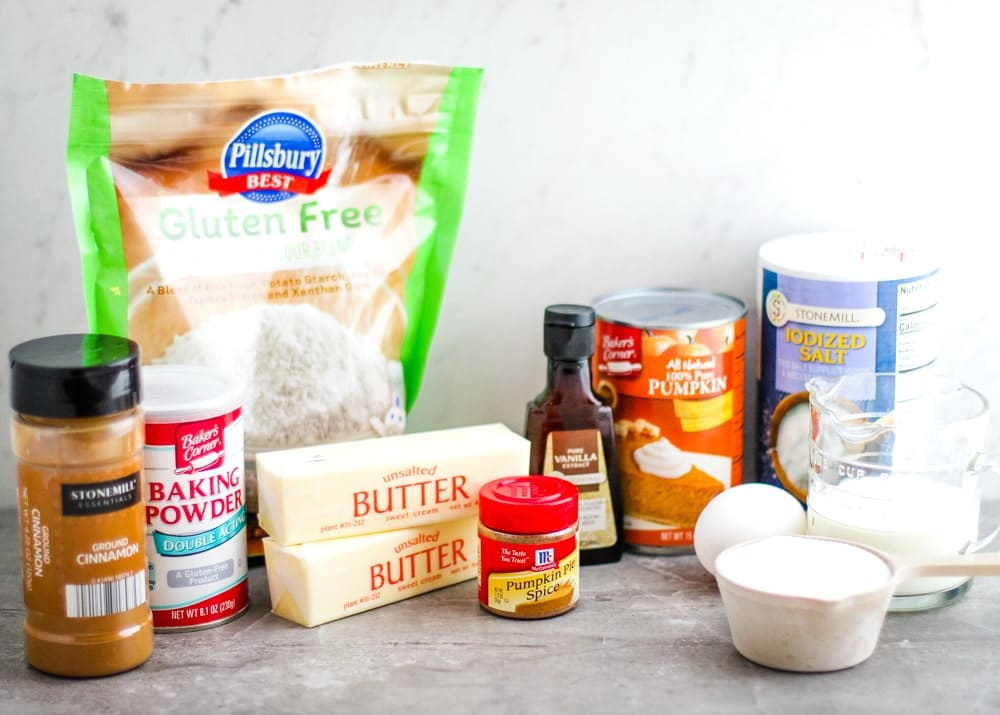 Gluten Free Pumpkin Muffins Ingredients
