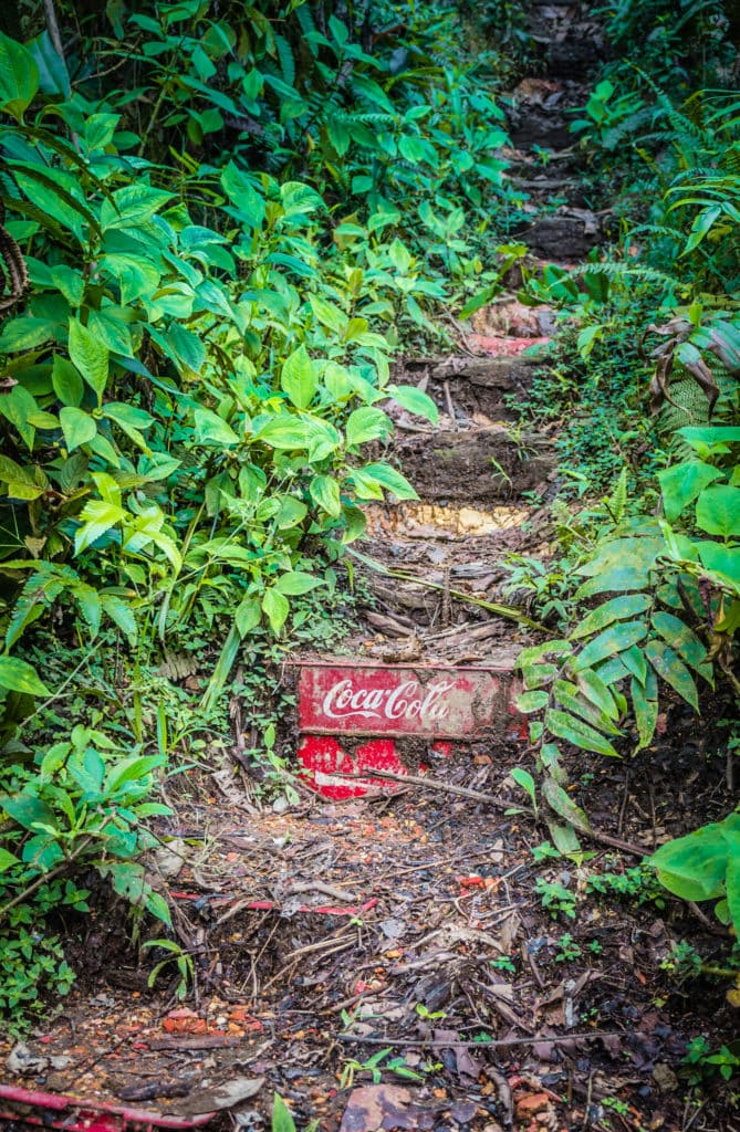 Mashpi lodge Coca Cola crates