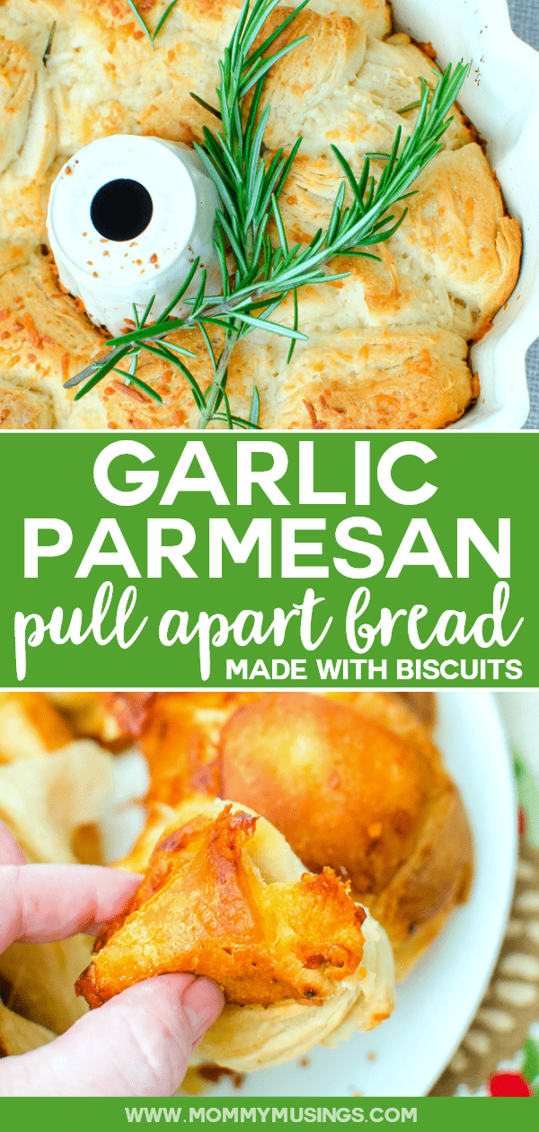 Garlic Parmesan Pull Apart Bread with Biscuits