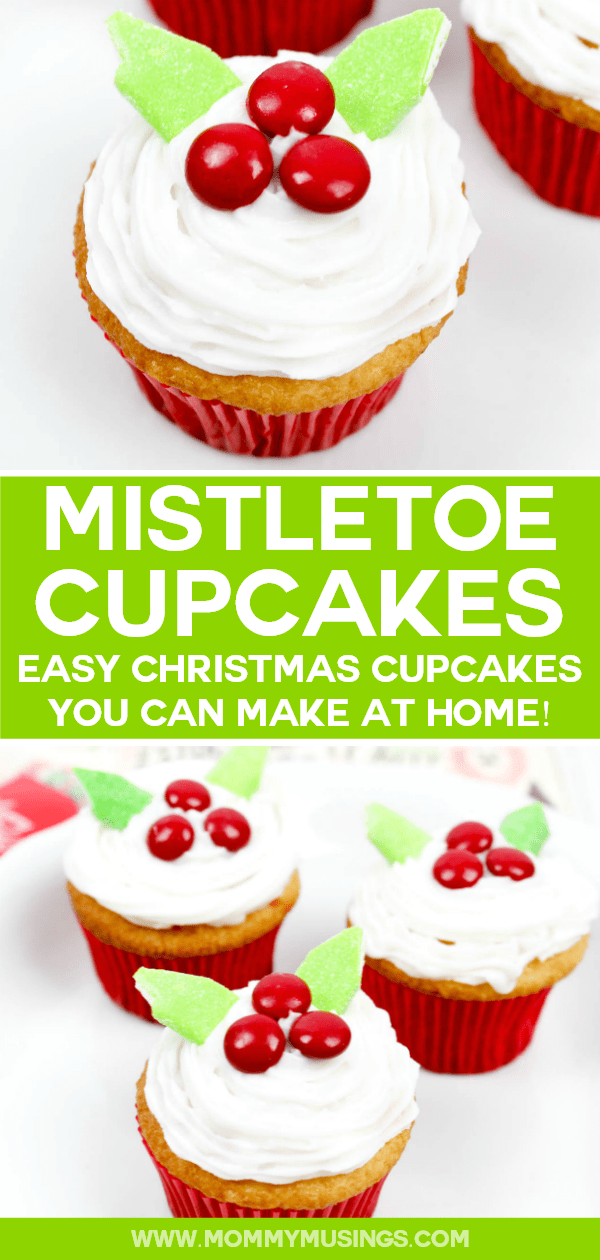 Mistletoe Cupcakes Recipe Easy Christmas Cupcakes