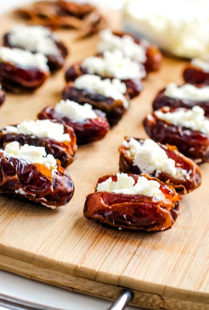goat cheese stuffed dates