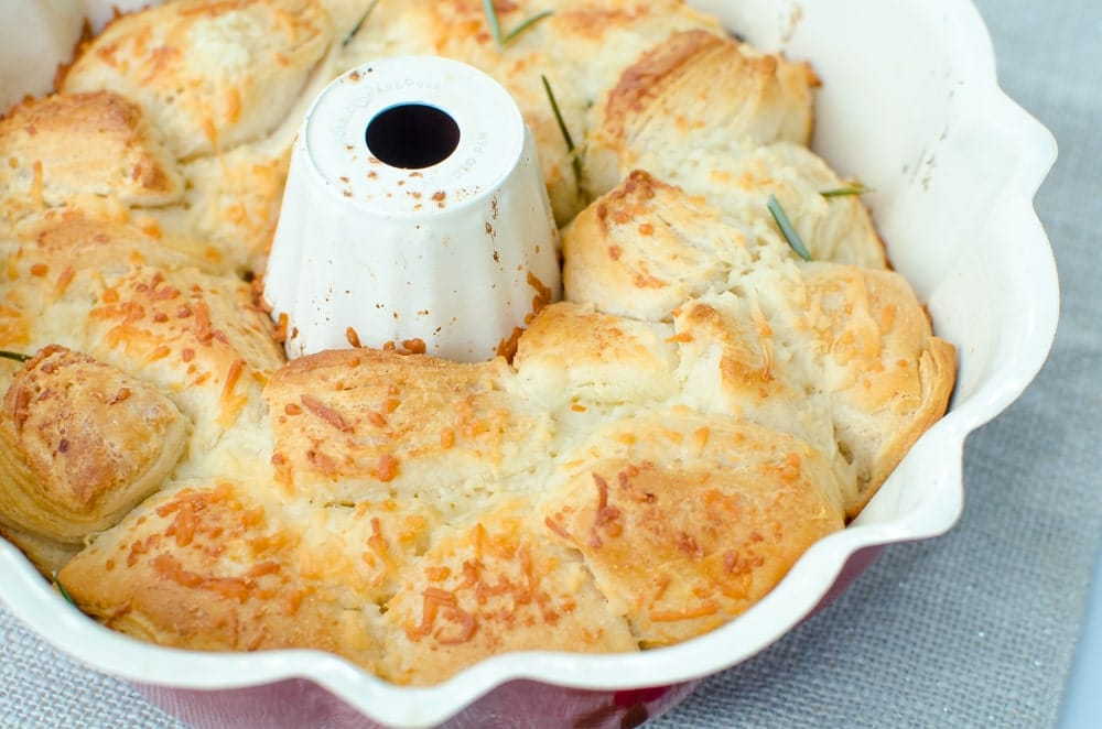 Garlic Parmesan Pull Apart Bread in canned biscuits