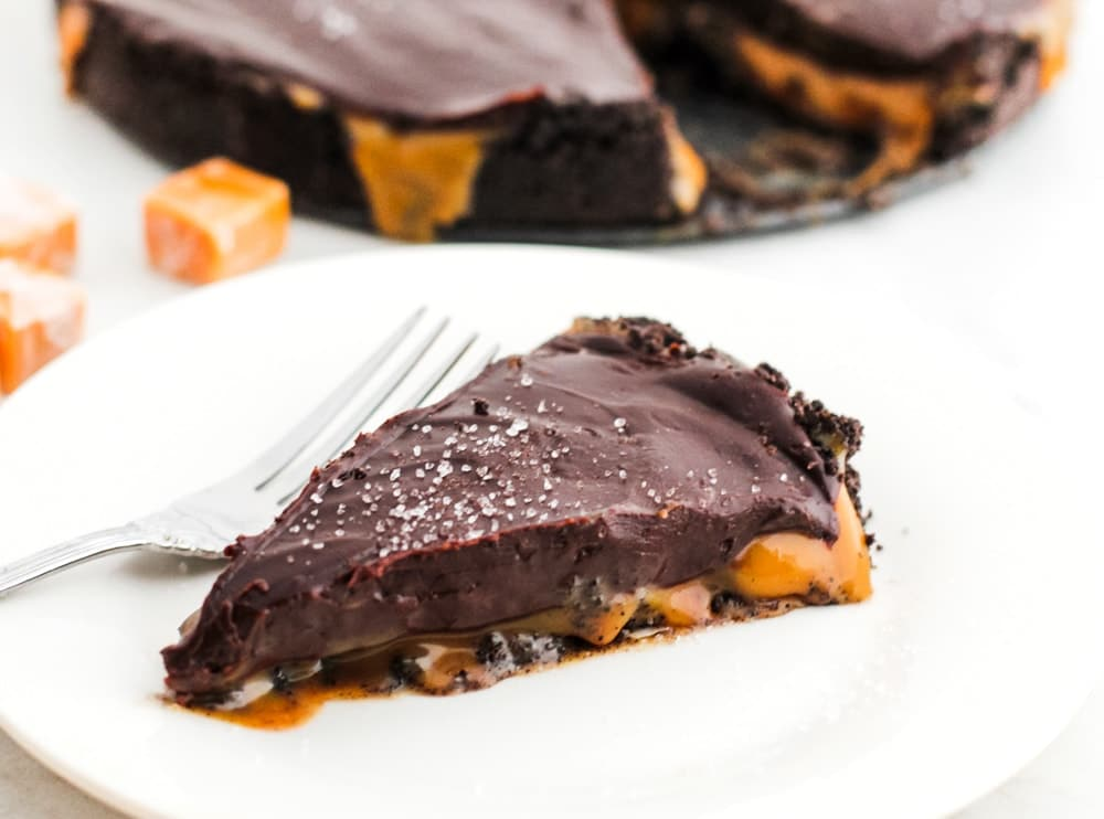 Chocolate Caramel Pie Oreo Crust
