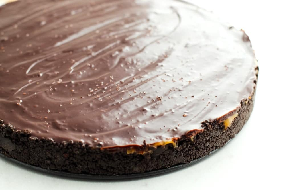 No Bake Caramel Chocolate Pie
