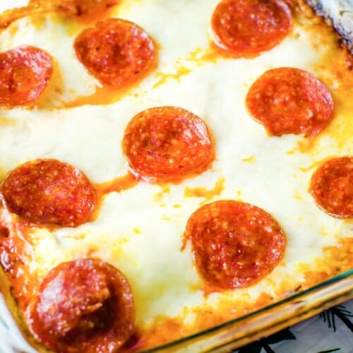 baked pepperoni pizza lasagna