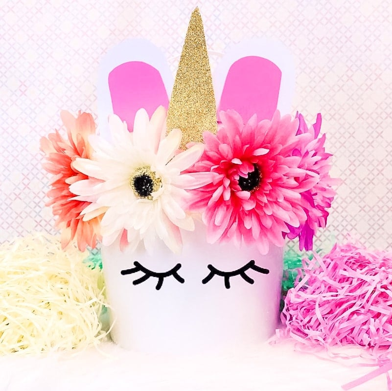 Easy Unicorn Easter Basket DIY