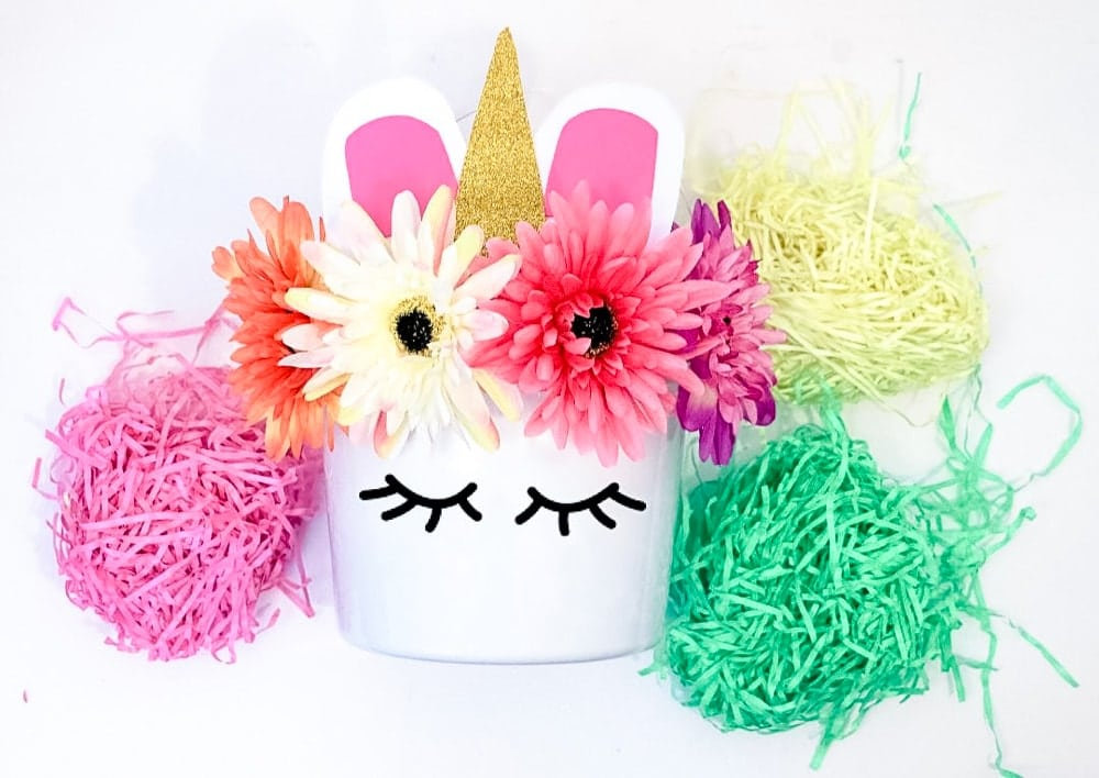 Homemade Unicorn Easter Basket