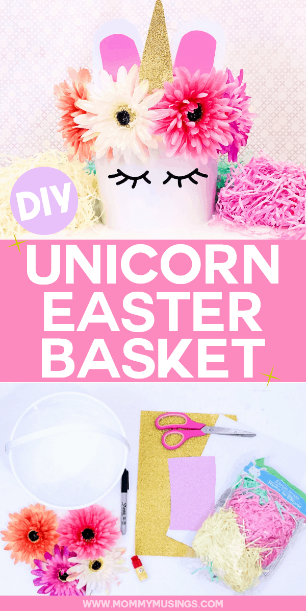 DIY Unicorn Easter Basket