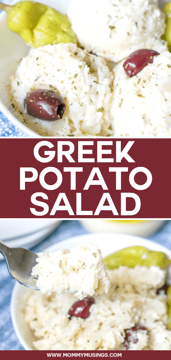 Greek Potato Salad is a delicious twist on classic potato salad made with feta cheese, Greek dressing and kalamata olives