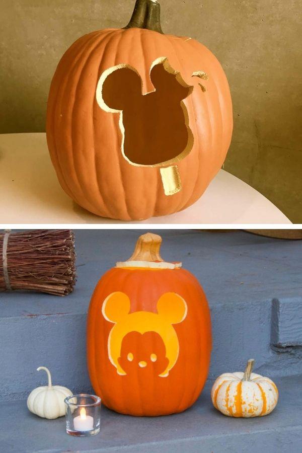 Disneyland park themed pumpkins