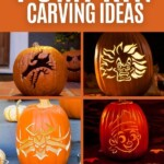 Disney pumpkin carving ideas collage