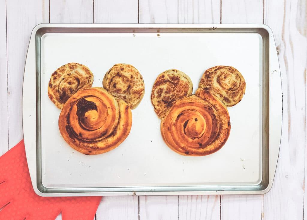 baked mickey cinnamon buns