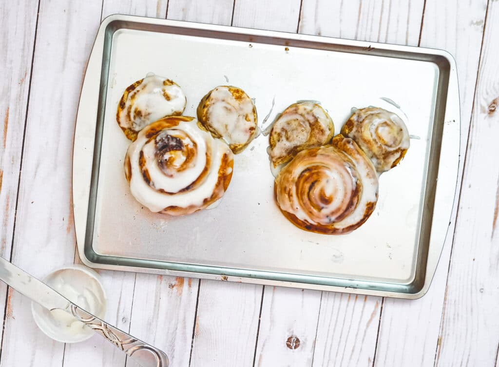 frosted mickey mouse cinnamon roll