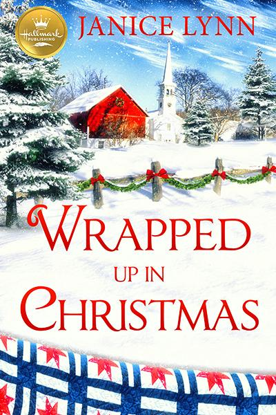 wrapped in christmas hallmark book cover by Janice Lynn