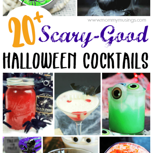 Halloween cocktails collage