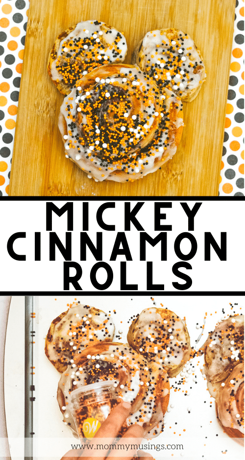 mickey cinnamon rolls made at home