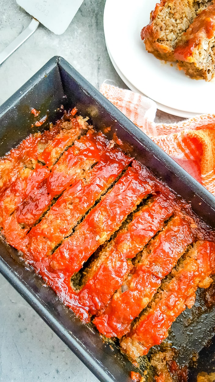 brown sugar meatloaf in a pan