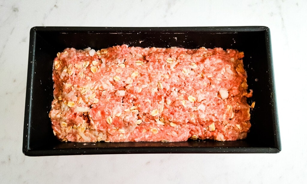 brown sugar meatloaf in pan