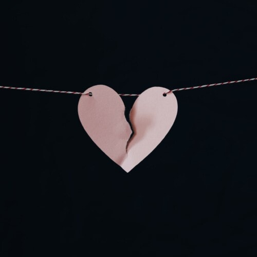 heart torn in half to represent divorce divorce