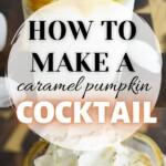 Caramel pumpkin cocktail pin image