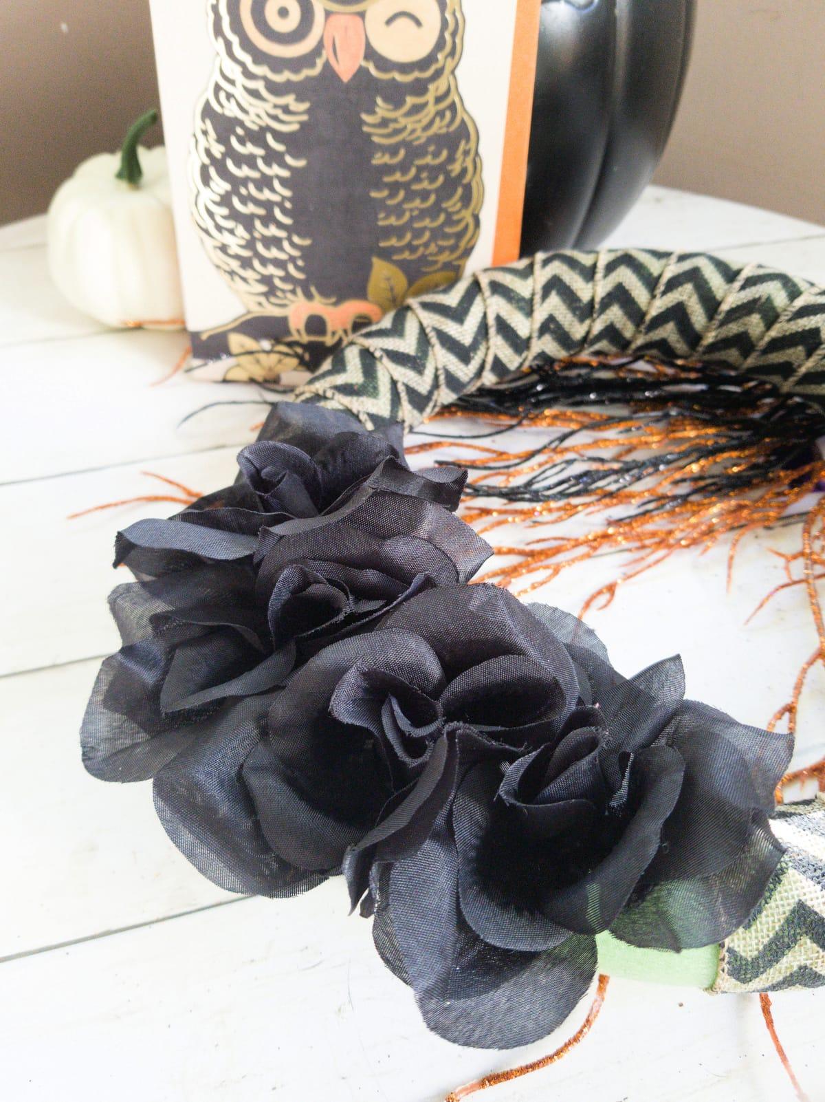 Wreath on table