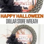 Halloween wreath collage