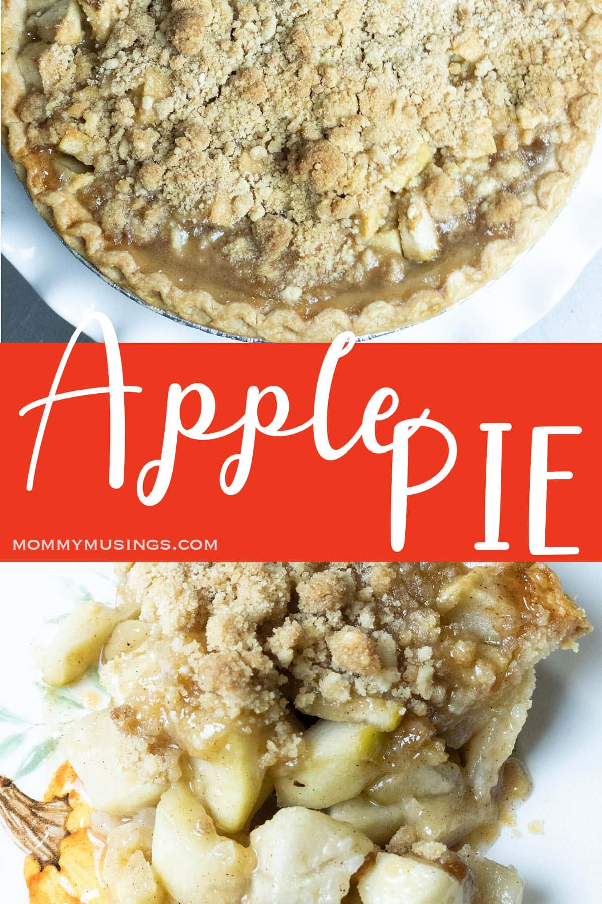 photo collage of homemade apple pie