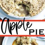 photo collage of easy apple pie recipe