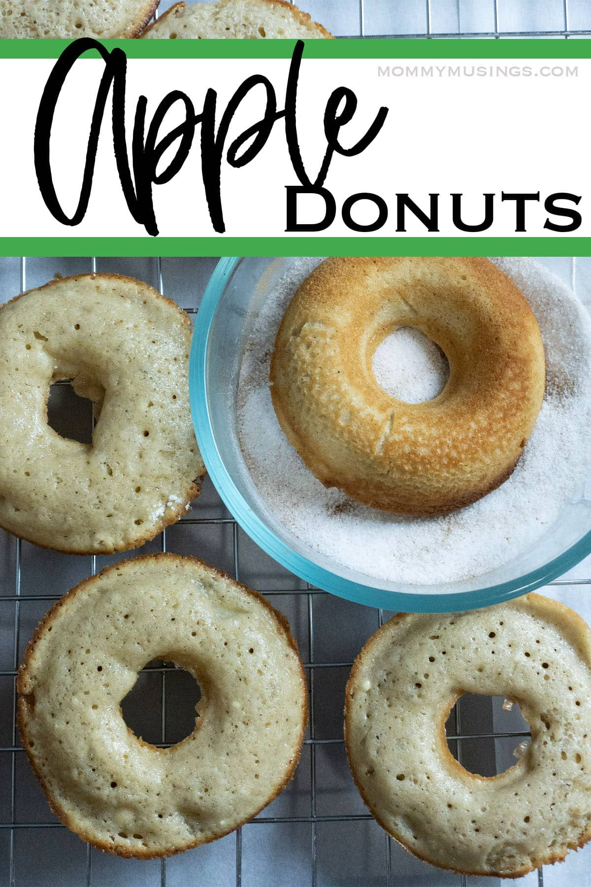 sugar topped donuts made with apples