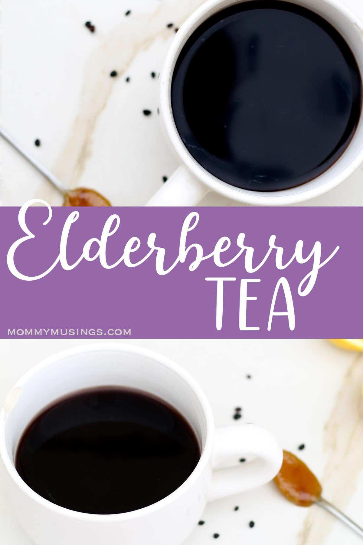 elderberry tea photo collage