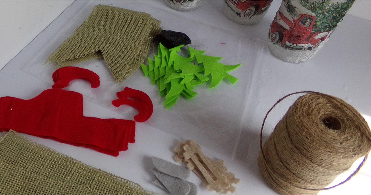 supplies to make a garland with cricut maker