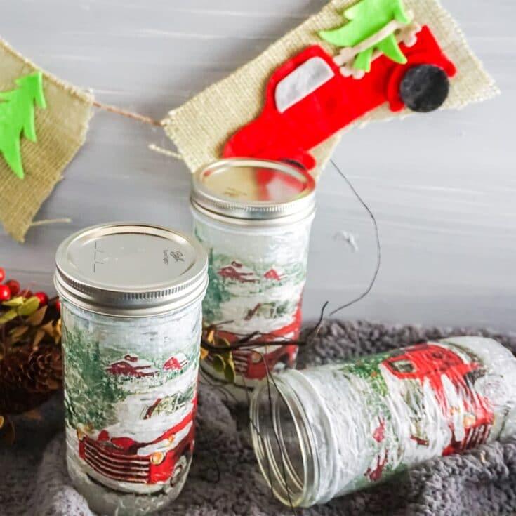 Farm Truck Garland in a Jar Kit Gift Idea