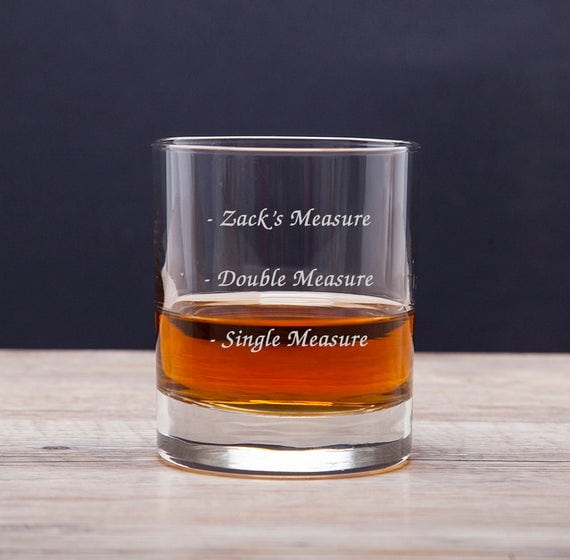 Personalised Measures Message Tumblers Whisky Glass Gifts | Etsy