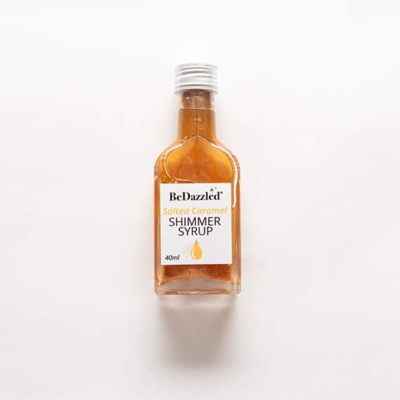 Salted Caramel Shimmer Syrup for vodka gin cocktails & | Etsy