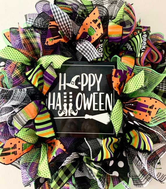 Wreath Kit Happy Halloween Wreath Kit | Etsy