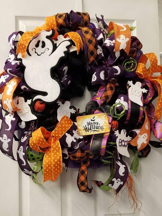Happy Haunting Halloween Wreath | Etsy
