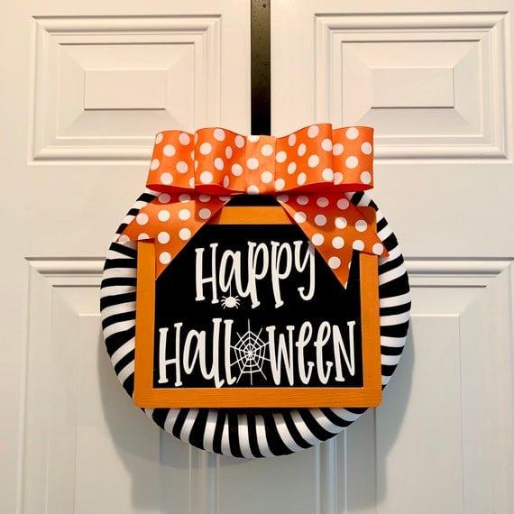 Happy Halloween Wreath | Etsy