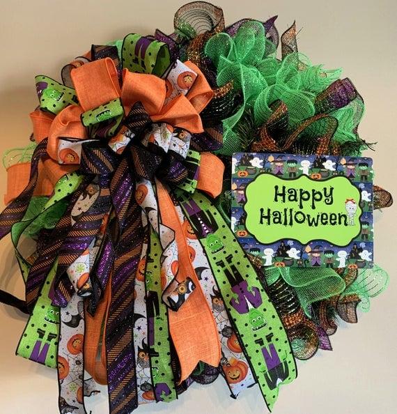 Happy Halloween for Front Door | Etsy