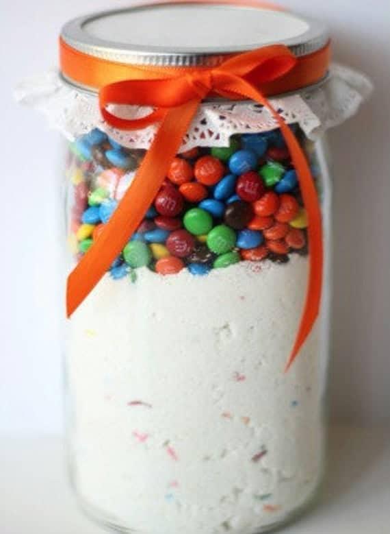 M&M Funfetti Cookies in a Jar