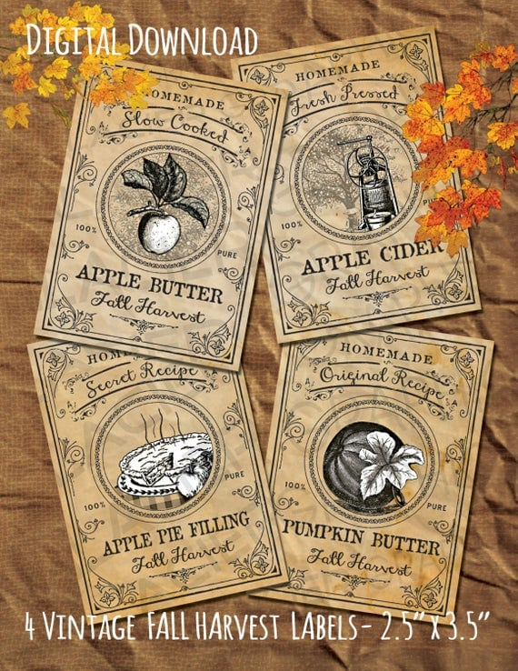 Apple Butter Labels