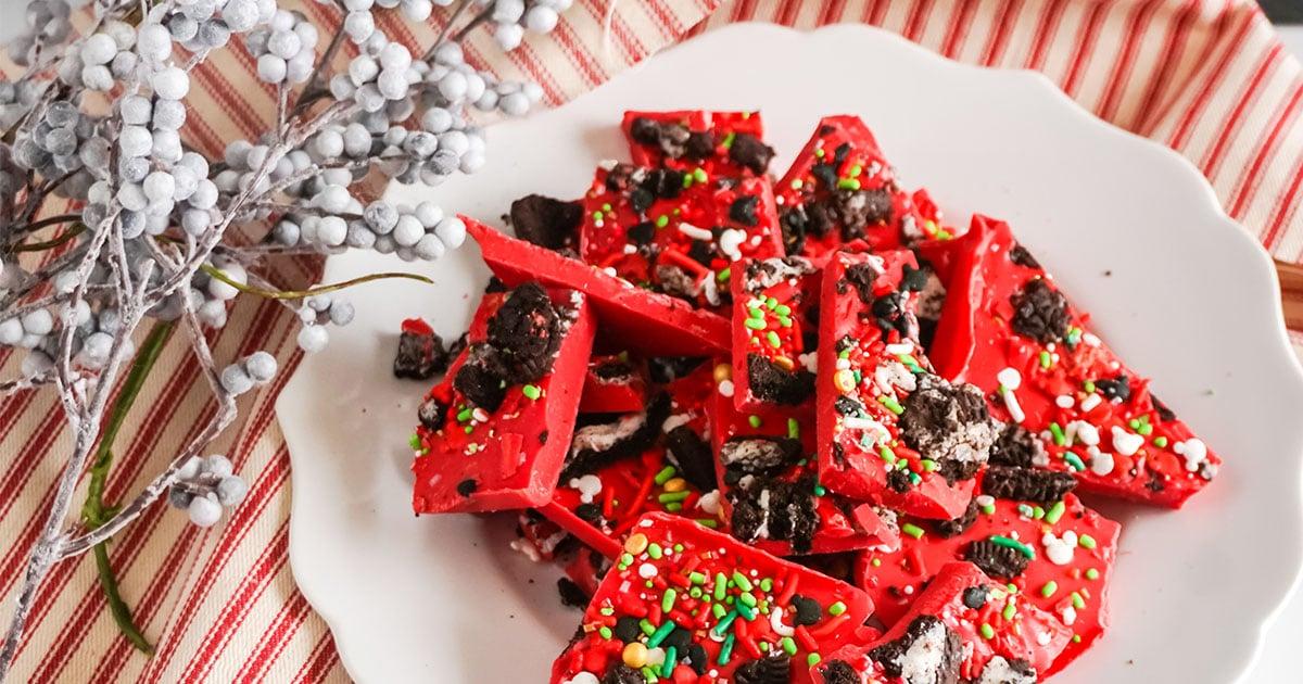 mickey christmas bark easy recipe
