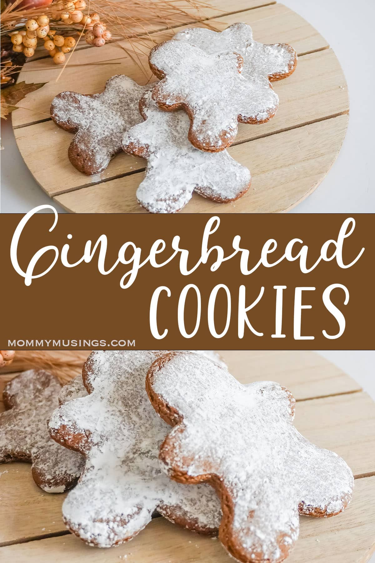 photo collage of gingerbread cookies with text which reads gingerbread cookies