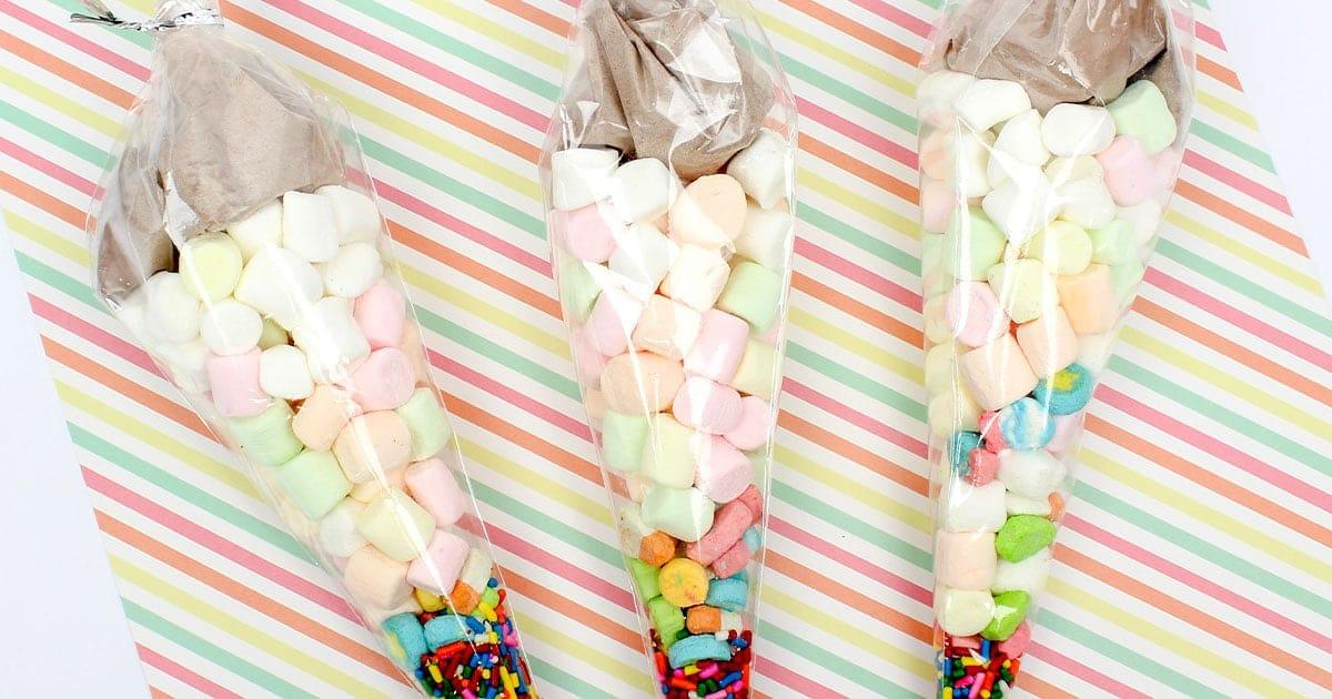 unicorn hot cocoa gift idea