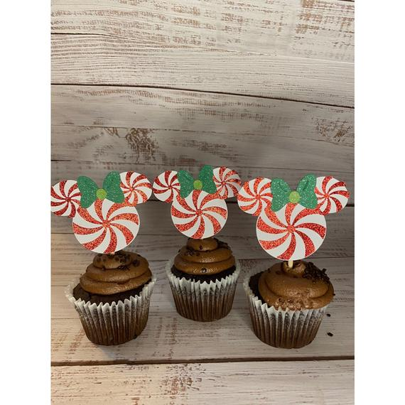 Mickey Mouse Christmas Cupcake Toppers