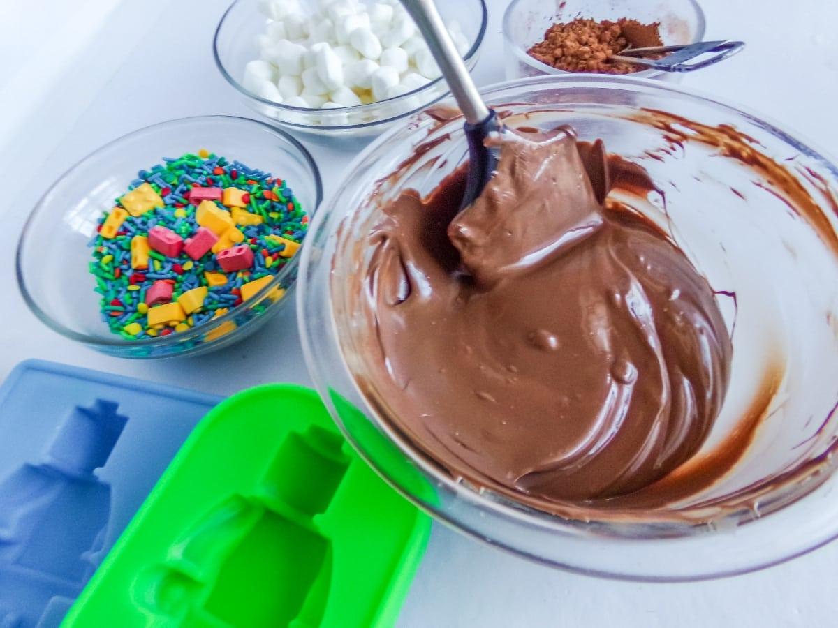 supplies to make Lego Man Hot Cocoa Bombs