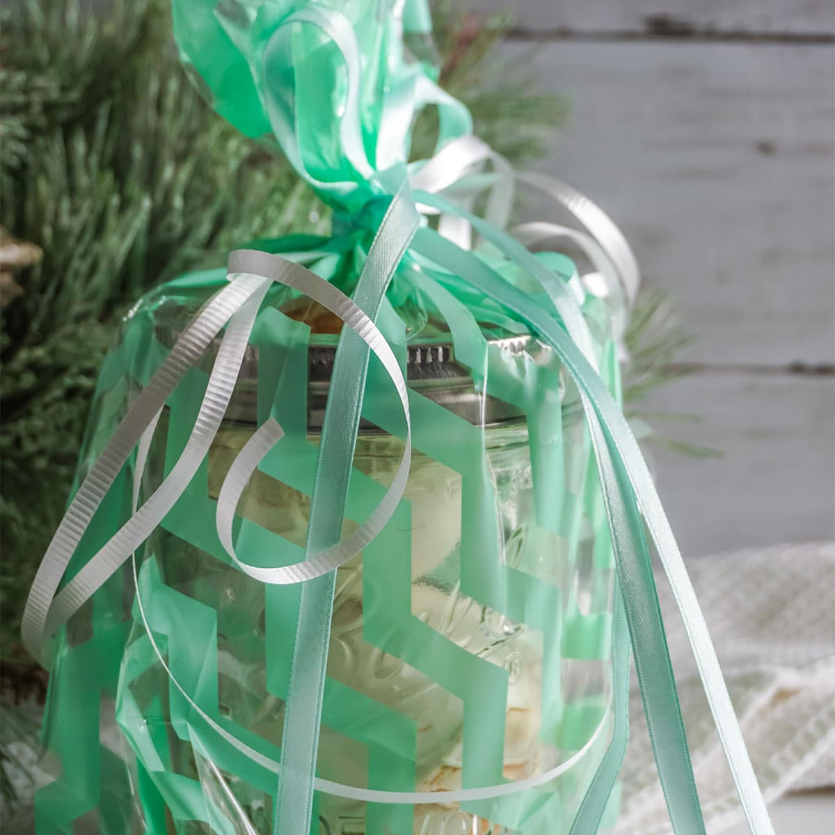 closeup of Mason Jar Gift Hot Cocoa Bombs