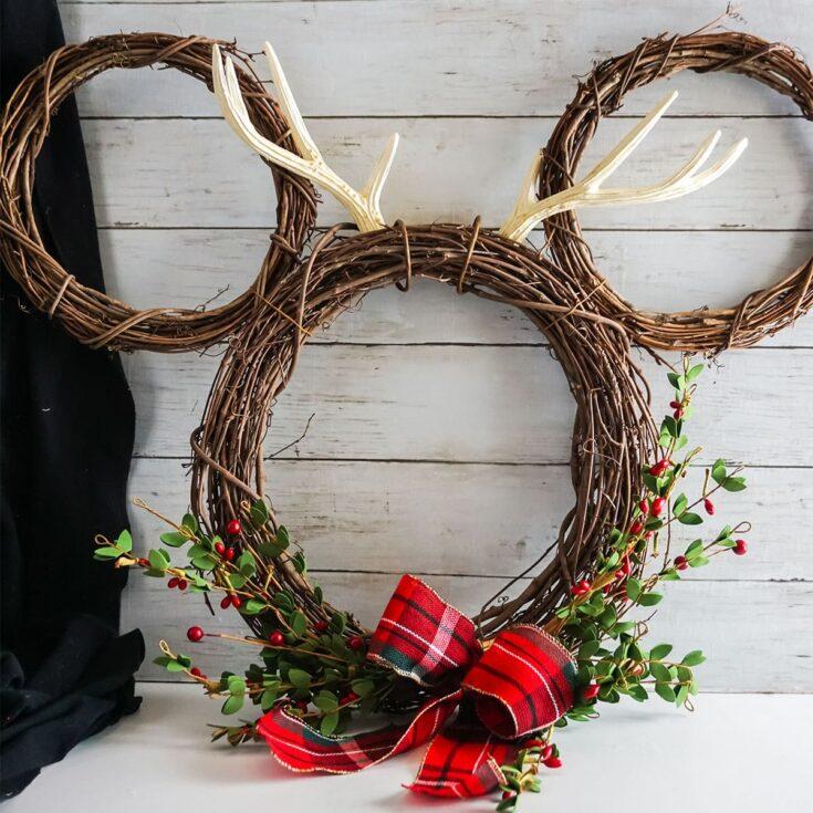 Mickey Reindeer Wreath
