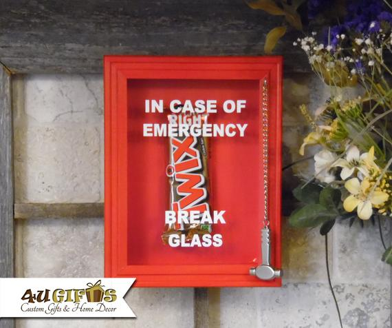 Twix In Case of Emergency Break Glass Shadow Box