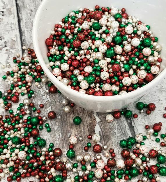 Christmas Sprinkle Wreath edible sprinkles | Etsy