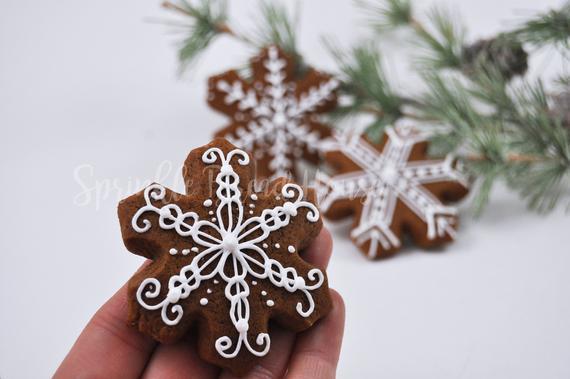 Mini Winter Wonderland Snowflakes Christmas Gingerbread | Etsy